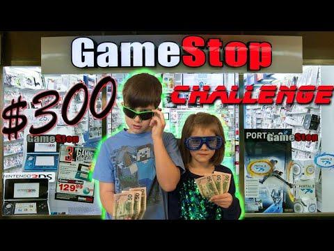 Kids $300 Gamestop Challenge! First Gamestop Challenge Of 2018!