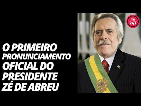 Autoproclamado presidente, Zé de Abreu fala à nação