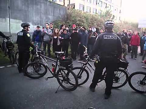 Body Worn video of MLK protest 2015 Seattle