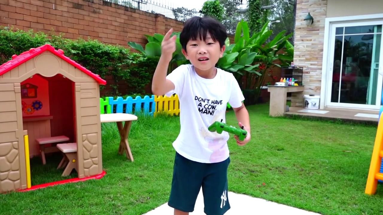예준이의 트렉터 포크레인 중장비 트럭 타보기 전동 자동차 장난감 색깔놀이 타요버스 뽀로로 Kids Ride on Tractor Excavator Car Toy Video
