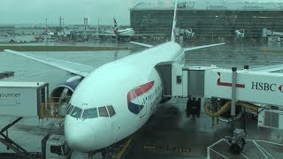 First Class British Airways London to New York Newark [HD]