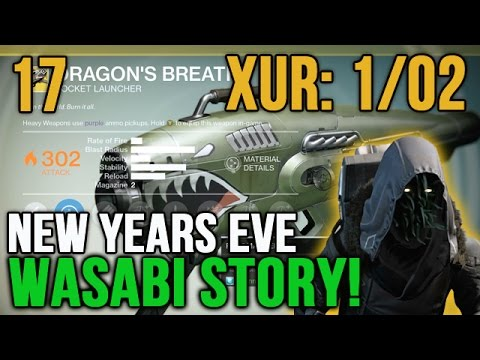 Destiny Where is Xur Location Week 17 (1/02) Dragon's Breath [Wasabi Story]