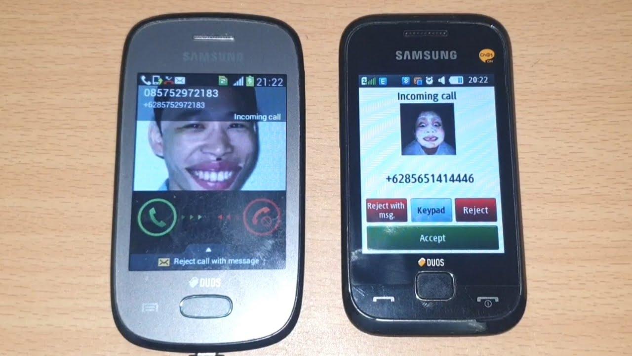Dual Cute Samsung Phone Incoming Calls at same time