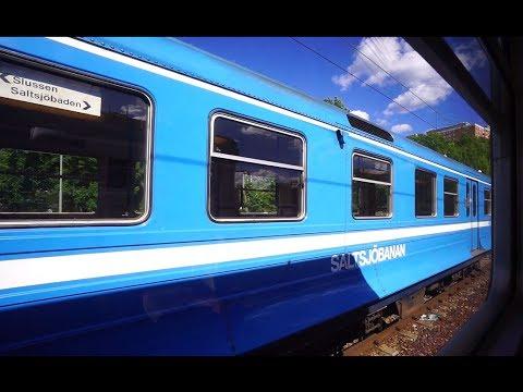 Sweden, Stockholm, train ride from Henriksdalsberget to Saltsjöbaden