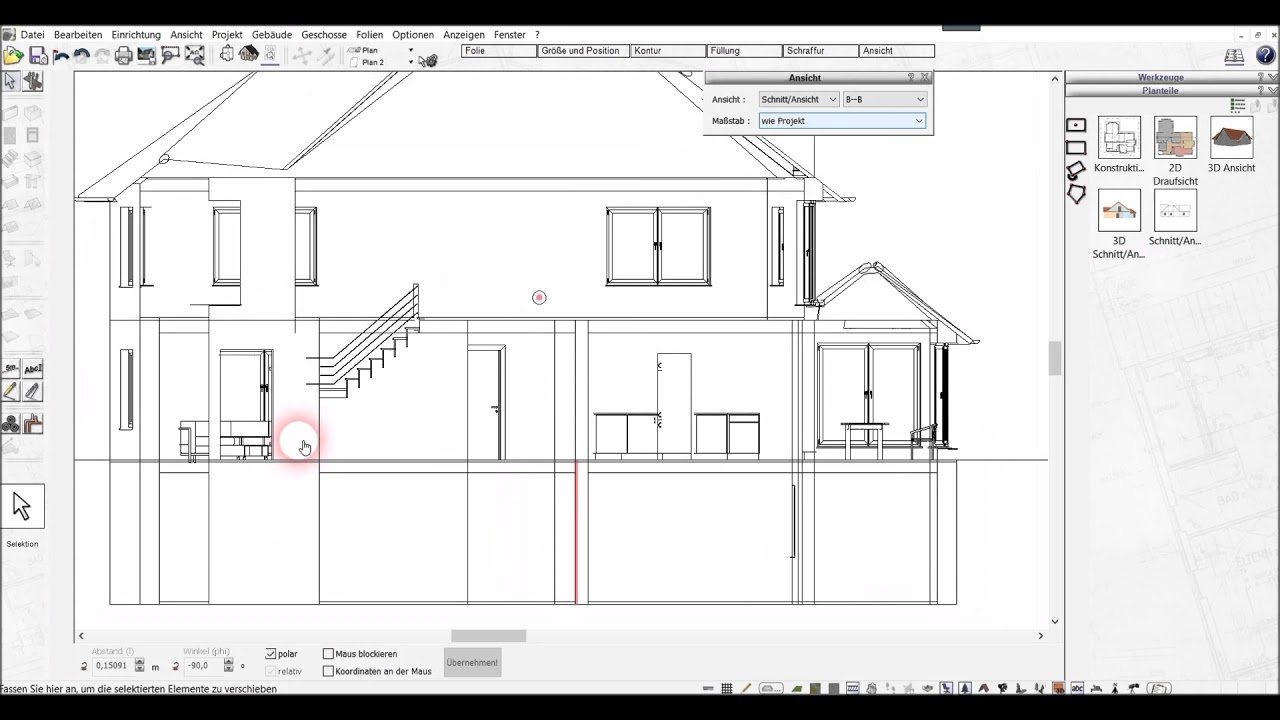 Schnitte Erzeugen Mit Dem 3d Architekt Von Immocado De