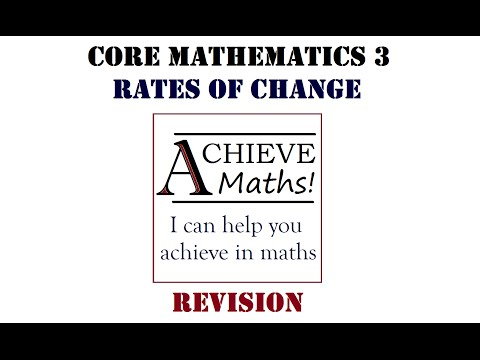 A level Maths C3 Core 3 Revision - Rates of Change