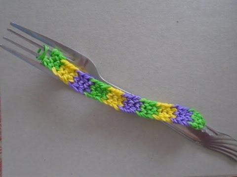 Плетём браслет на вилке