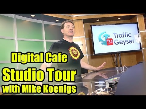 Digital Cafe Studio Tour with Mike Koenigs - How to Put Seven Sets in a Small Space!