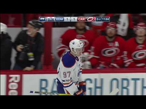 McDavid Snaps Stick, Scores Immediately With New One