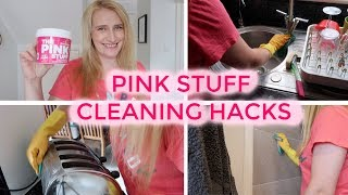 PINK STUFF CLEANING HACKS | DEEP CLEAN WITH ME