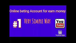 Online Betting Account , How to create online betting Account , 10 cric betting site, online money