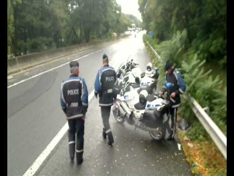 French Autoroute Police in action