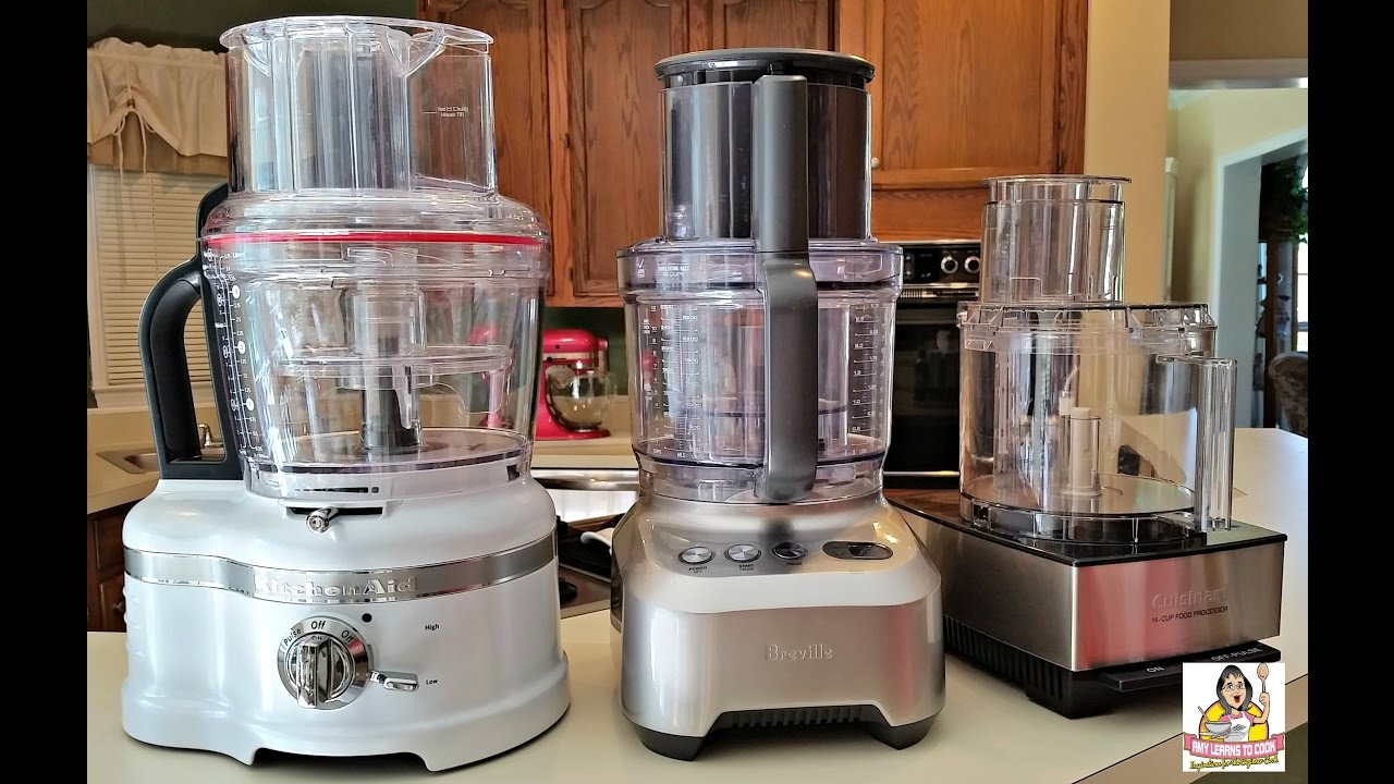 Ultimate Food Processor Review Part II: Cuisinart, KitchenAid Proline & Breville Sous Chef - YouTube