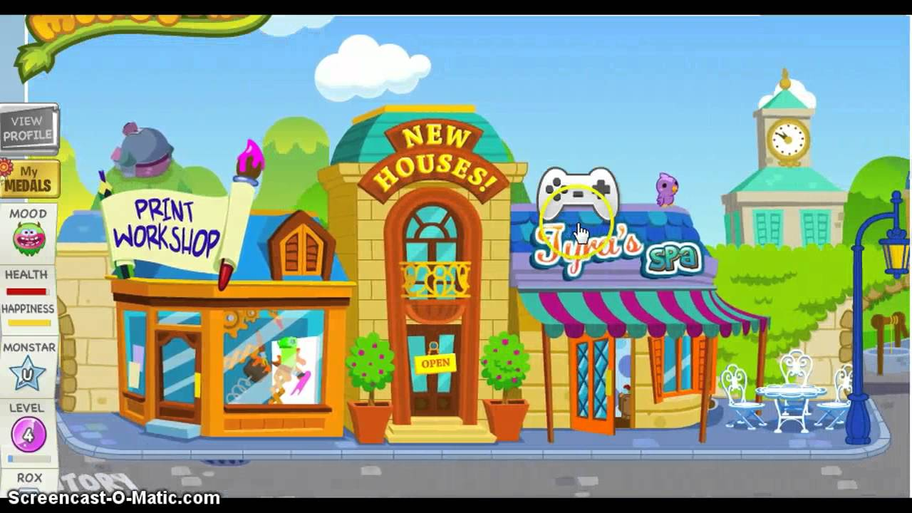 Moshi Monsters How To Get A New House Room Youtube