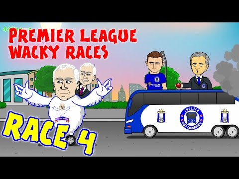 RACE 4 Premier League Wacky Races (Chelsea 1-2 Crystal Palace Liverpool 0-3 West Ham goals)