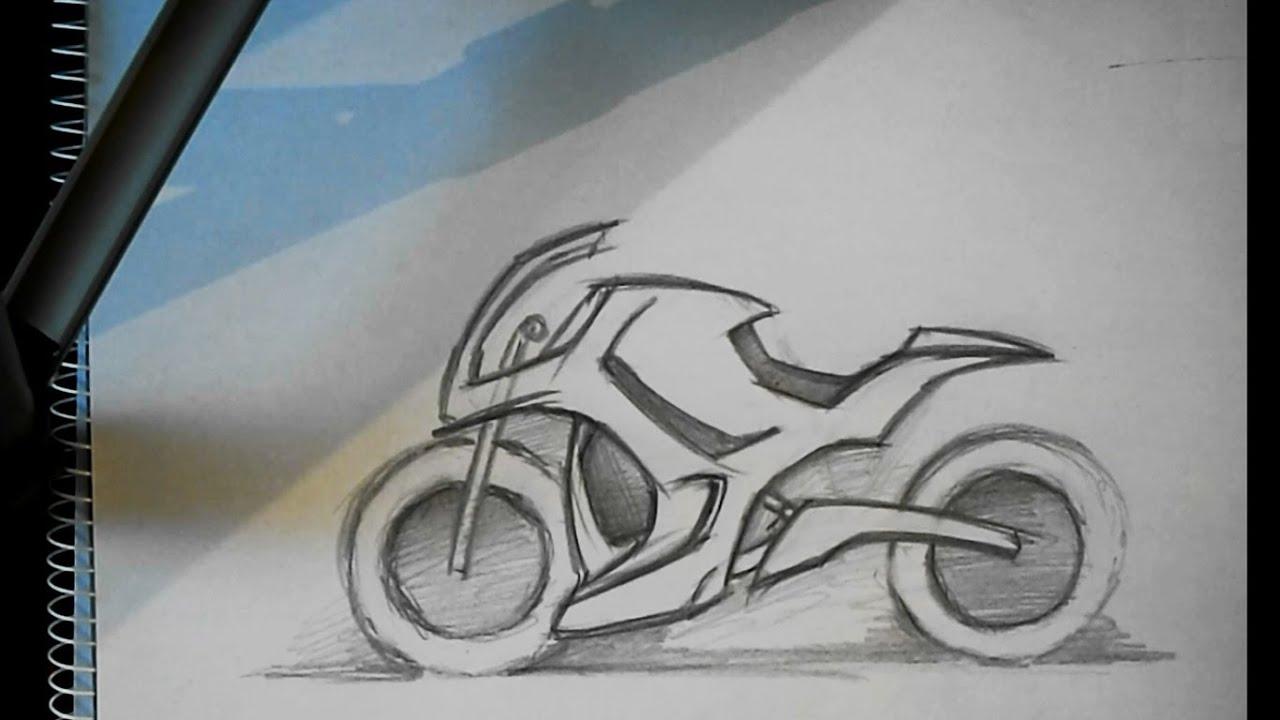 Motorcycle Design Sketch 22122013 YouTube