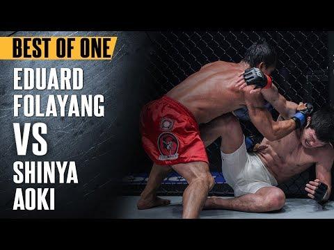 "ONE: Best Fights   Eduard Folayang vs. Shinya Aoki   ""The Landslide"" Shocked The World   Nov 2016"