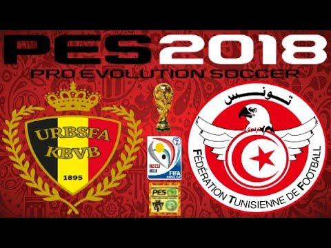 PS4 PES 2018 Gameplay Belgium vs Tunisia HD