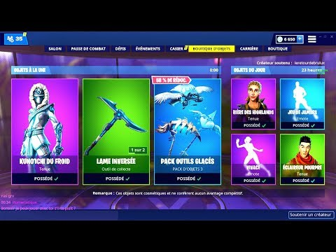 BOUTIQUE FORTNITE du 8 Fevrier 2019 ! ITEM SHOP February 8 2019 !