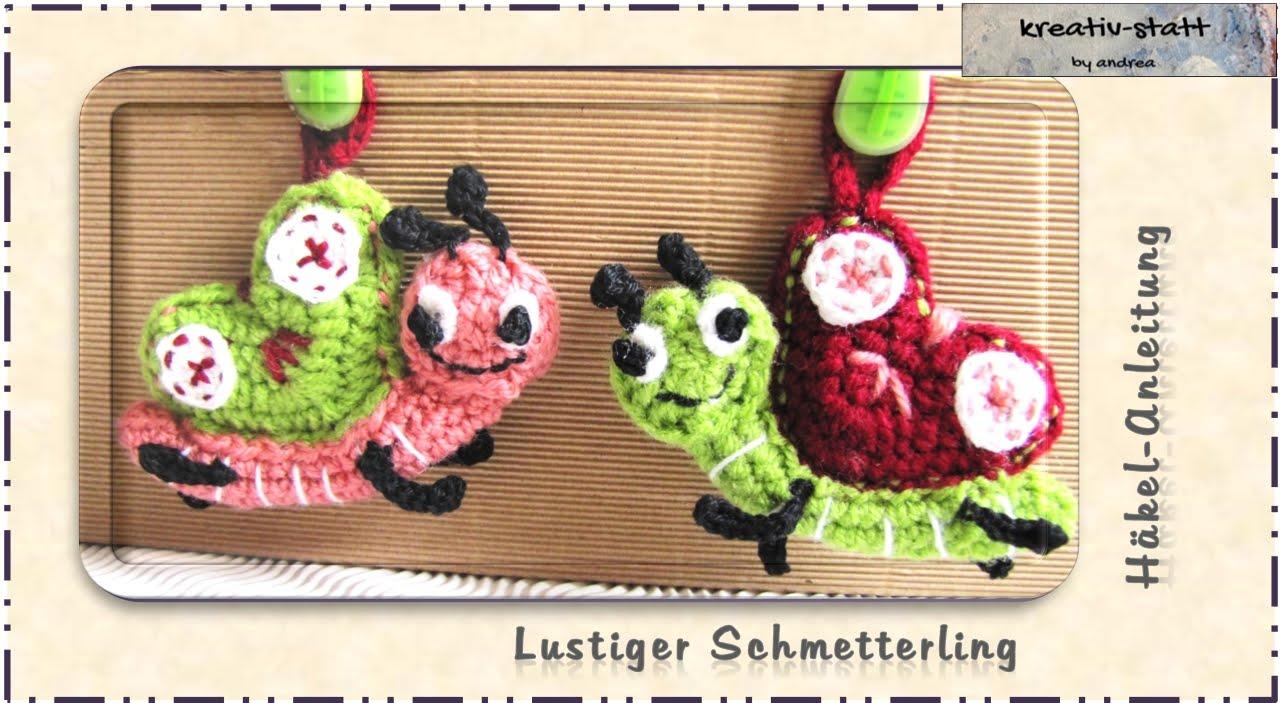 Häkeln Taschenbaumler Schmetterling Crochet Bag Hanger
