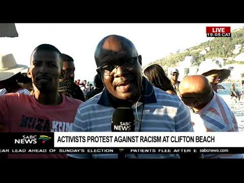 A hive of activity as Clifton Beach protesters stage a rare picket