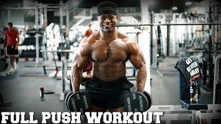 INTENSE Push Workout   My HEAVIEST Deadlift