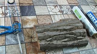 Silikonform für die Baumstammstrucktur selber basteln .