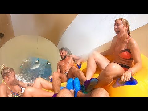 Tornado Waterslide at Wild Wadi Waterpark Dubai (Funnel Ride)