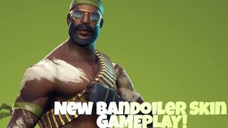 "New Fortnite Skin ""Bandolier"" and ""Stop Axe"" Gameplay"