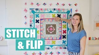 Stitch and flip quilt block tutorial   Final round robin thumbnail