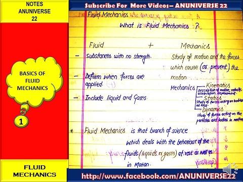 WHAT IS FLUID MECHANICS ? - BASIC OF FLUID MECHANICS-1 - ANUNIVERSE 22