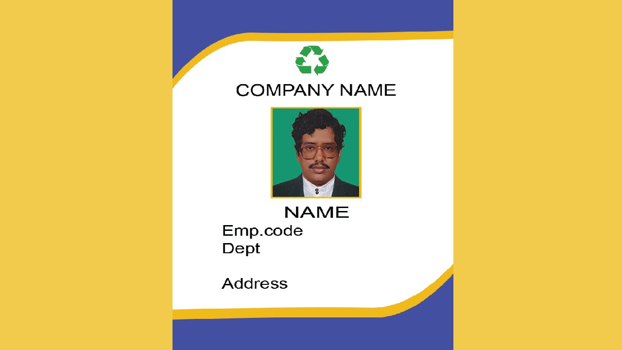 Id Card Template | How To Create An Id Card In Photoshop With Esubs Youtube