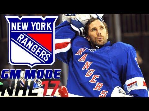 NHL 17 - New York Rangers - GM Mode Commentary Livestream