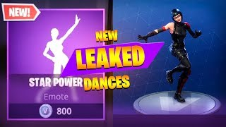 *NEW* Fortnite Season 4 LEAKED DANCES IN GAME! (STAR POWER, ZANY, TAKE 14, DIP, SNAP)