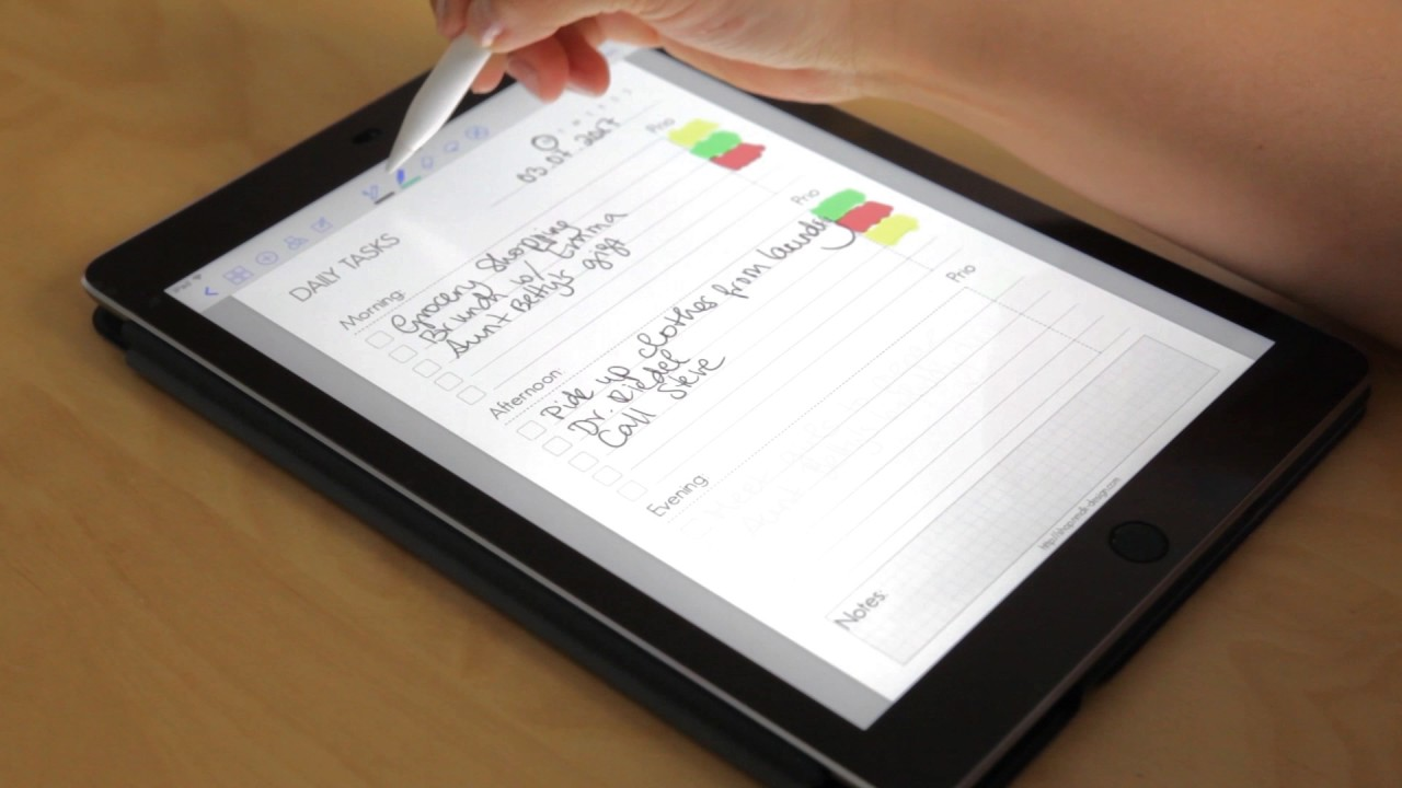 Daily Tasks Goodnotes Template For Ipad Youtube