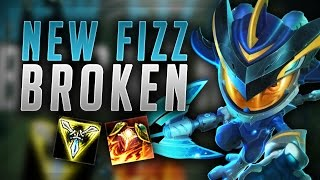 HOW BROKEN DOES THIS NEW AD BUILD MAKE FIZZ? TRIFORCE FIZZ TOP SEASON 7 - League of Legends Gameplay