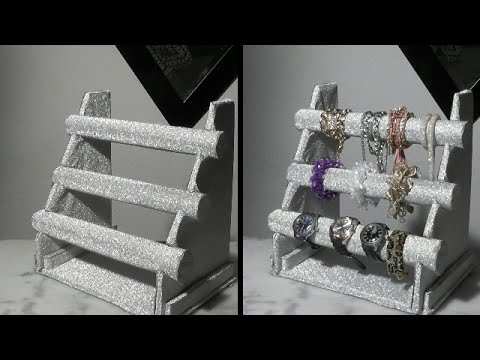 Como hacer tu propio organizador de accesorios manualidades organizador de pulseras baeacroca - Manualidades relojes de pared ...