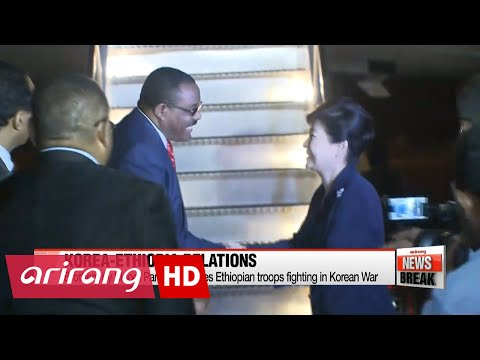 ARIRANG NEWS BREAK 15:00 President Park arrives in Addis Ababa, summit talks set with Ethiopian