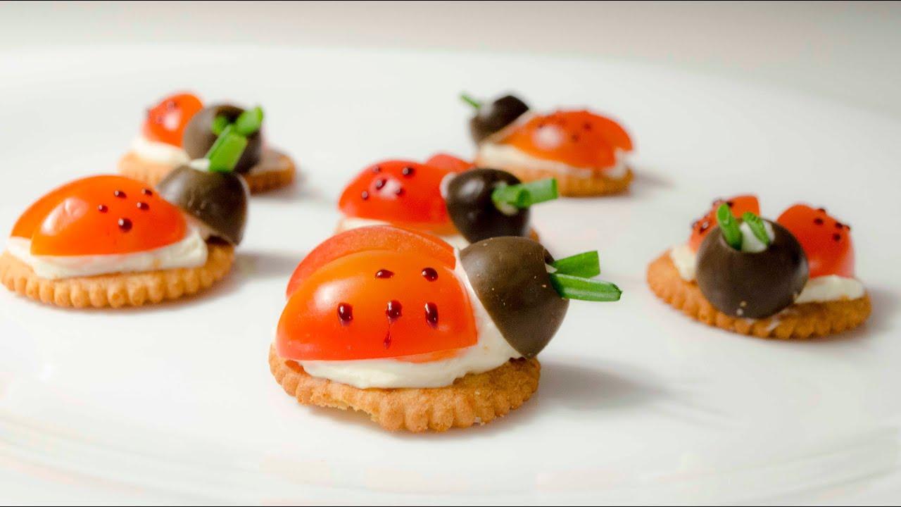Mariquita snack receta para los ni os ladybugs para for Comidas rapidas para ninos