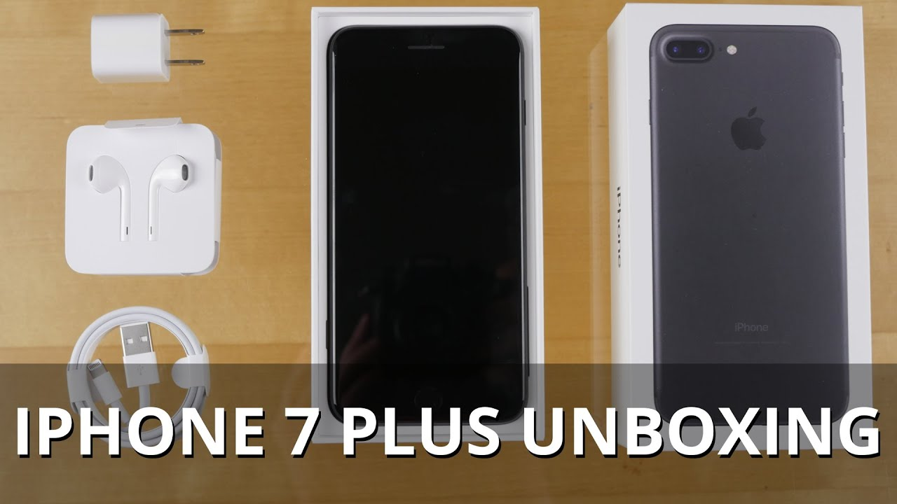iphone 7 plus black unboxing. iphone 7 plus black unboxing -