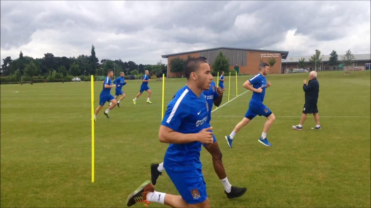 PRE-SEASON DAY ONE: Running drills on day one of pre-season training