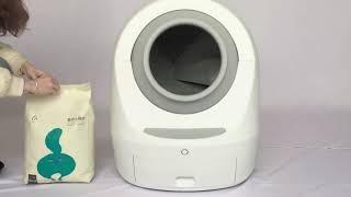 Guide of  adding cat litter for MEET Smart Sterilizing Litter Cabin
