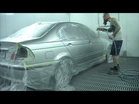 Silver metallic bmw 320i spray painting tutorial youtube for How to make metallic paint