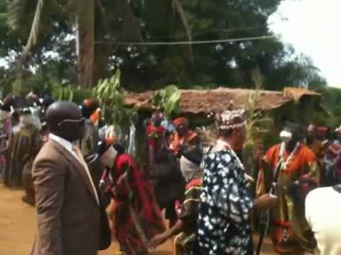 Ndekwai village,(Petit Gabon)mamfe,Cameroon.Coronation of the new Chief.