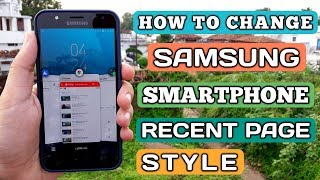 How To Change Samsung Smartphone Recent Page