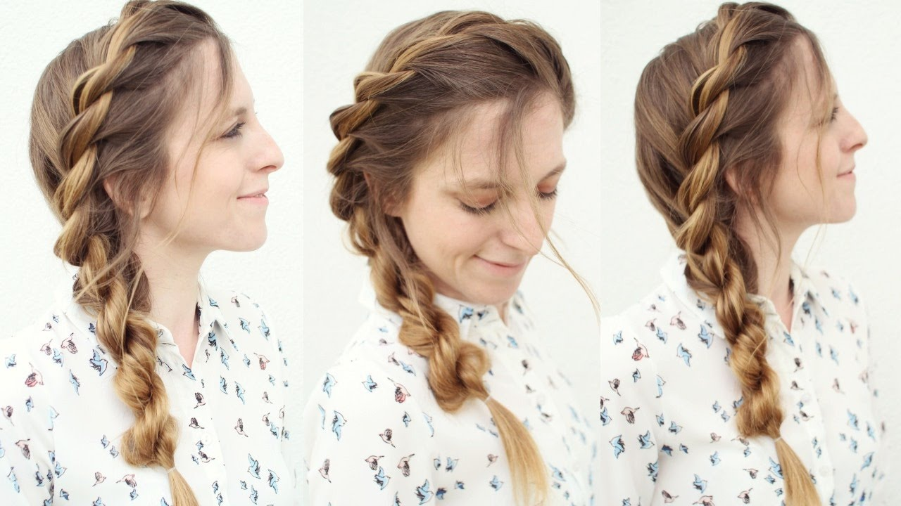 Easy Rope Twist Braid Hairstyle