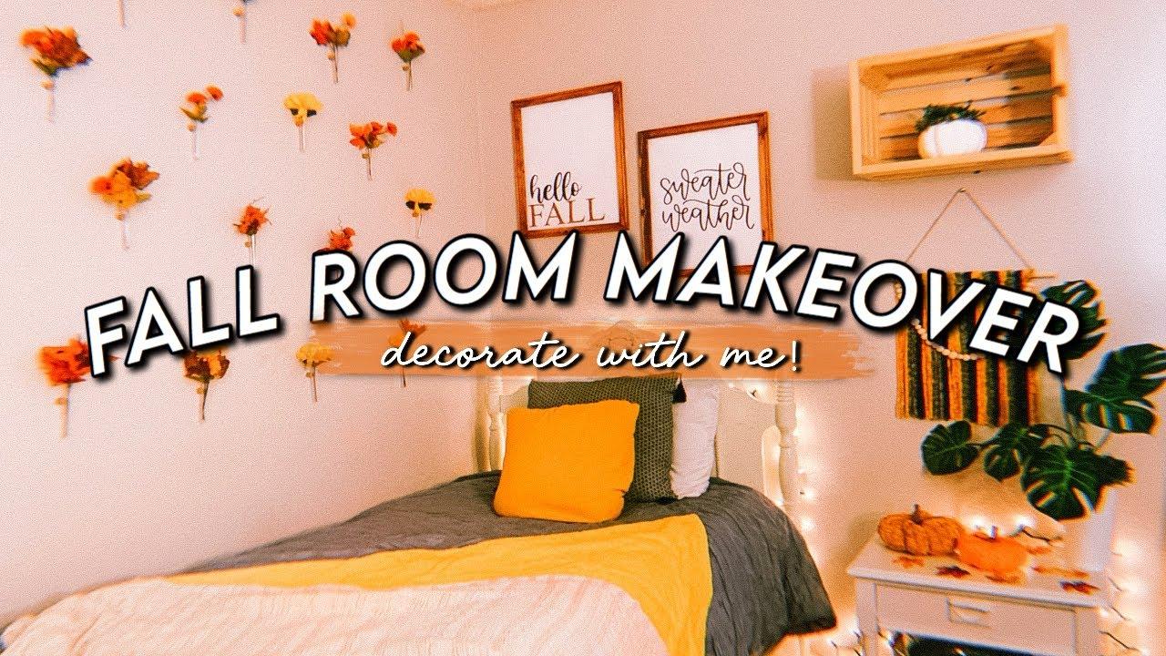 Diy Fall Decor 2020 Aesthetic Cozy Room Makeover Cheap Easy Youtube
