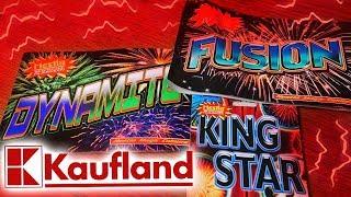 Fajerwerki z  Kauflanda - Zestaw FUSION , Dynamite oraz rakieta KING STAR