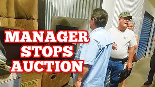 IS THIS EVEN LEGAL? MANAGER STOPS AUCTION At Abandoned Storage Units Locker Auction / Storage Wars