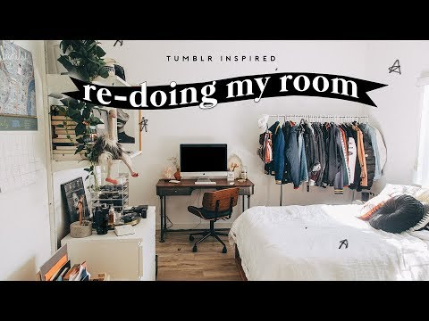 EXTREME BEDROOM TRANSFORMATION + TOUR (2018) - Tumblr Inspired Decor  // Lone Fox